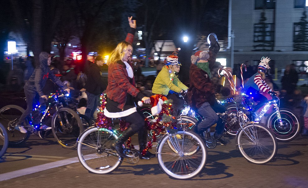 The 23rd annual Holiday Light Parade held throughout the downtown Prescott streets Saturday, Nov. 24, 2018. (Les Stukenberg/Courier).