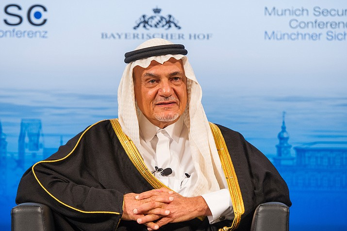 "Prince Turki al-Faisal told The Associated Press the kingdom ""will have to bear"" that its reputation has been tarred by the killing of Saudi writer Jamal Khashoggi in its Istanbul consulate last month. (Photo by Mueller / MSC [CC BY 3.0 de])"