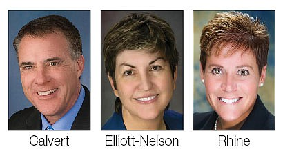 The three finalists — Dr. Michael Calvert, Dr. Linda Elliott-Nelson and Dr. Lisa B. Rhine — all have accepted invitations for board interviews and community forums Dec. 4-5 for the Yavapai College president post. (Courtesy)