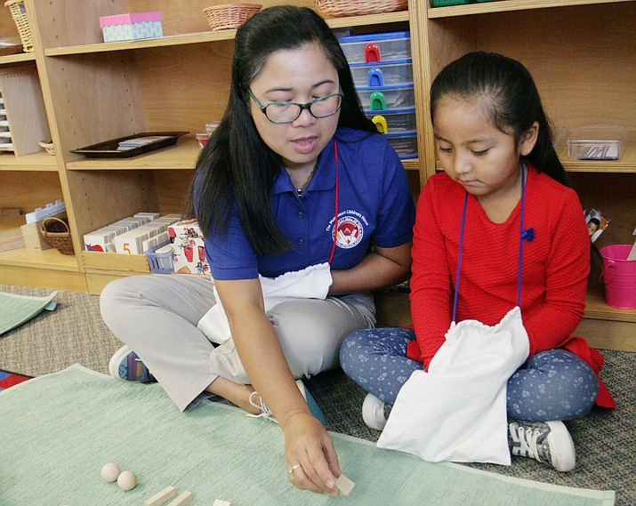 Felisa McGavock, lead teacher at Montessori Children's House in Camp Verde, was 7 years of age when she decided she would grow up to be a teacher. VVN/Bill Helm