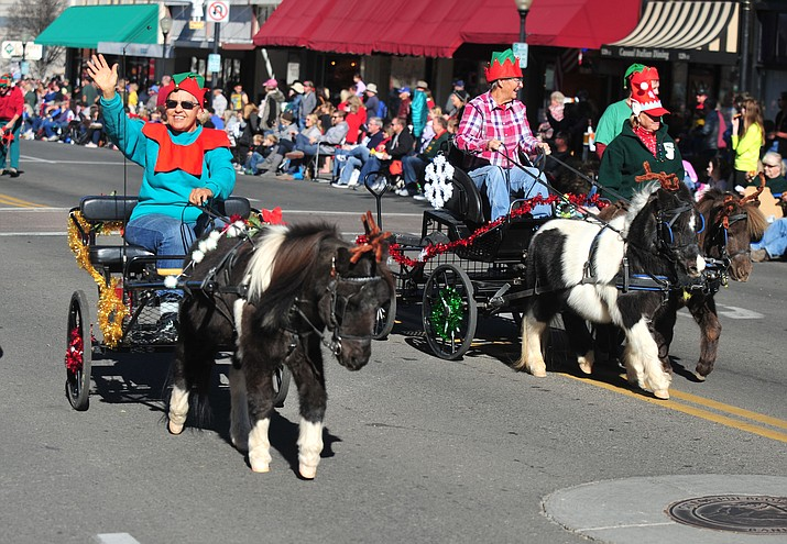 Participants in the 2015 Christmas Parade in downtown Prescott. (Courier, file photo)