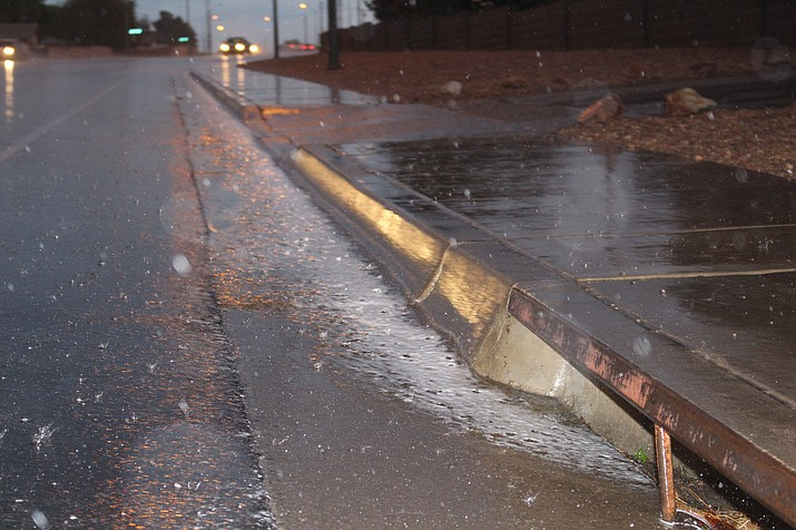 Rain is forecast for the Kingman area on Thursday with a possibility of one-fourth to one-half inch of precipitation. (Photo by Hubble Ray Smith/Daily Miner)