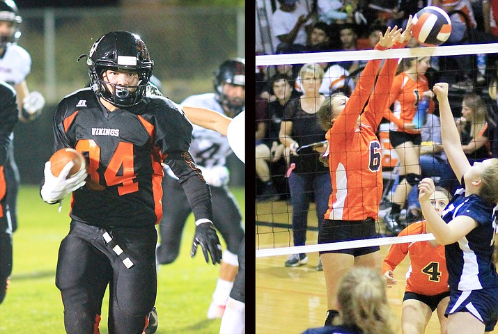 Chance Pearson was selected as the 1A North Player of the Year for football, and Maegan Ford was selected as the 1A Central Defensive Player of the Year for volleyball.