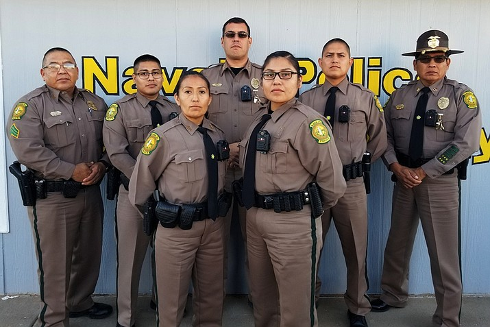 Cadets at the Navajo Police Academy were issued body cameras Nov. 15. This is the first time body cameras have been issued to officers on the Navajo Nation. The cameras will be used by officers during daily patrols. (Photo/Navajo Police Department)