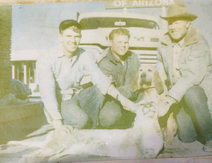 On March 5, 1964 Williams members of the McNelly and Theroux families display a mountain lion after a hunt. (Photo courtesy of Juniper Creek Outdoors)