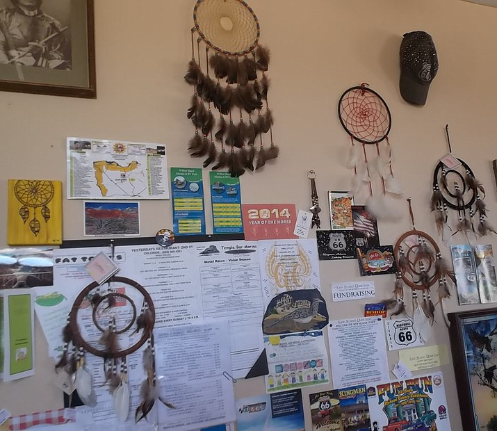 Dream catchers and Route 66 signs are among souvenirs for sale at the KADS headquarters in Dolan Springs. Mt. Tipton VFW is holding a holiday party for the kids on Dec. 15. (COURTESY)