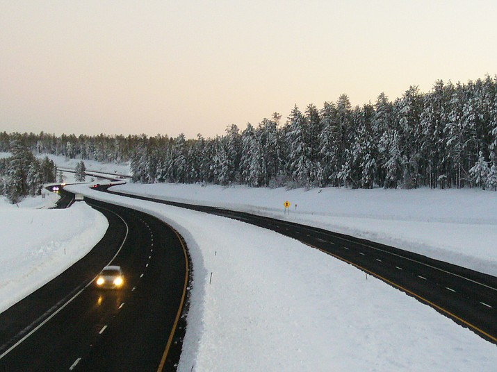 Between 3-5 inches of snow if forecasted to fall above 6,000 foot elevation. (Photo/ADOT)