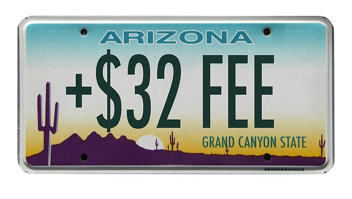 Beginning Dec. 1, most Arizona motorists will pay $32 per vehicle, per year for a new Public Safety Fee to support Highway Patrol operations, such as response to collisions, enforcing state laws, arresting impaired drivers, assisting motorists in distress and air-rescue operations. (Courier Illustration)
