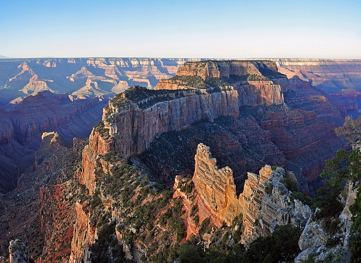 A muted sunrise From Cape Royal on Grand Canyon National Park's North Rim. (Photo/Michael Quinn, NPS)