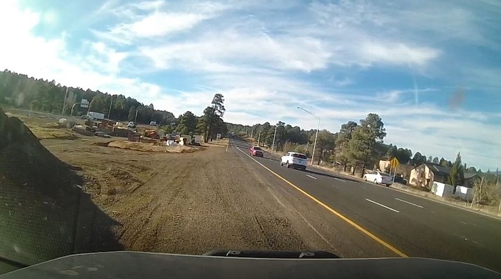 An AZDPS trooper stops a wrong-way driver on I-40 in Flagstaff Nov. 17.