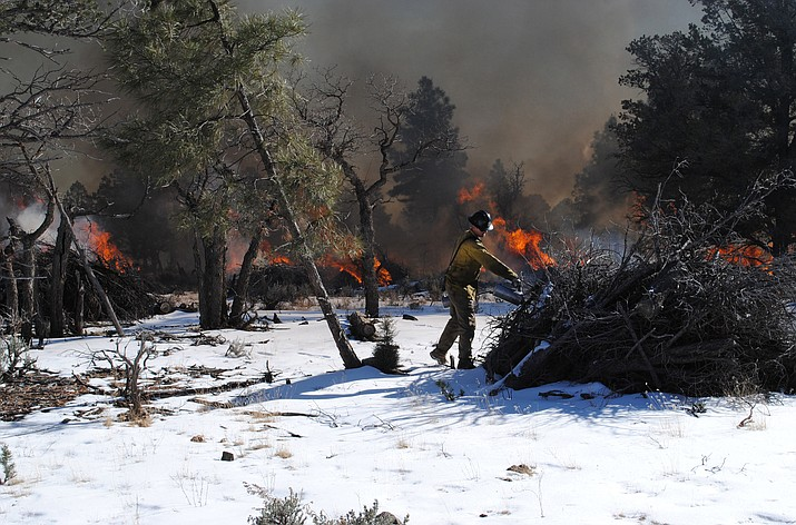 Fire managers plan to burn piles on the Tusayan and Williams ranger districts of the Kaibab National Forest starting Dec. 1.