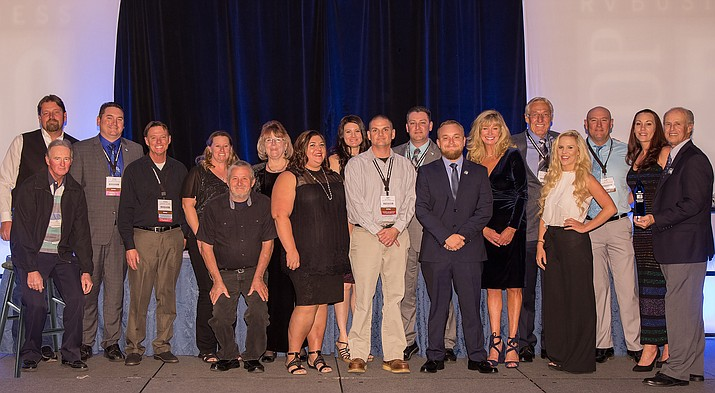 The Affinity RV team traveled to Las Vegas in early November to celebrate their recognition as one of five blue ribbon honorees in the RVB Top 50. (Affinity RV/Courtesy)
