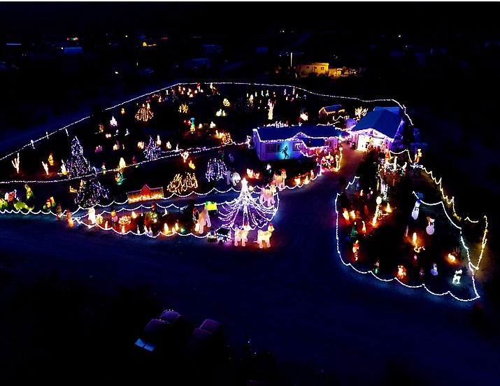 Meriwether's Golden Valley Christmas display is up and running. The display includes about 100 blowups, 70,000 lights, a whole bunch of other display items and a special gingerbread house area. (Courtesy photo)