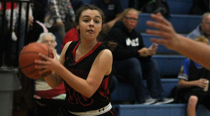 Lia Lucero led the Lady Vols with 10 points in a 39-21 victory over Pahrump during the River Valley Shootout. (Daily Miner file photo)