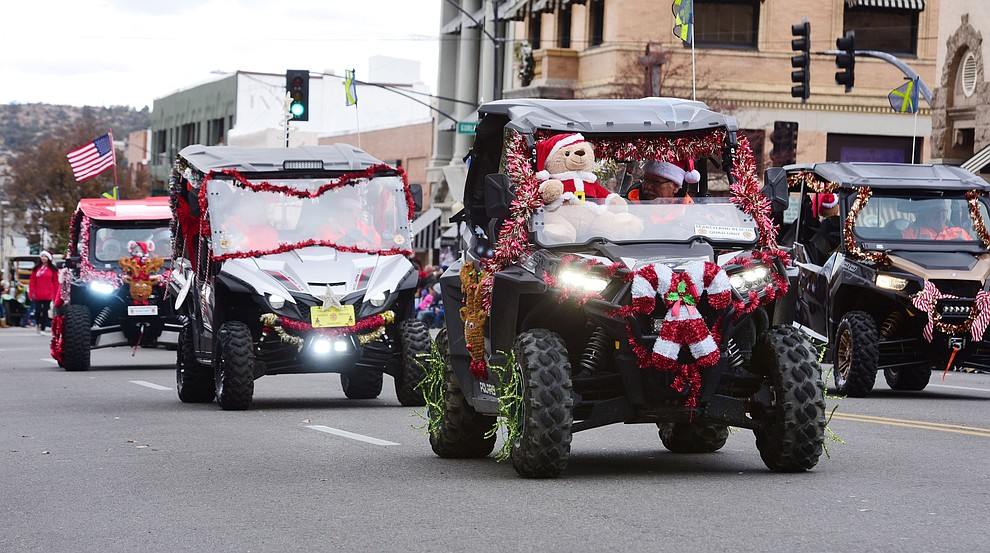 Ninety floats, marching bands and special groups participate in the 38th annual Prescott Chamber Christmas Parade in downtown Prescott Satuday, Dec. 1, 2018. (Les Stukenberg/Courier).