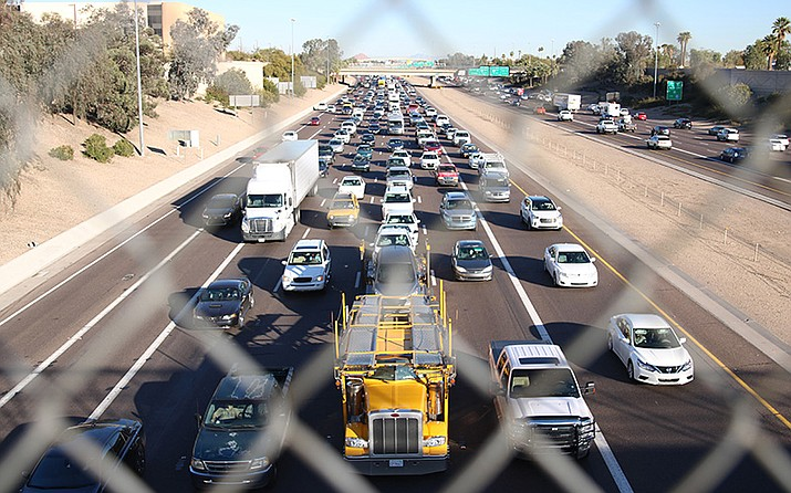 Traffic congestion is one of the many challenges faced by holiday drivers. (File photo by Jessica Clark/ Cronkite News)