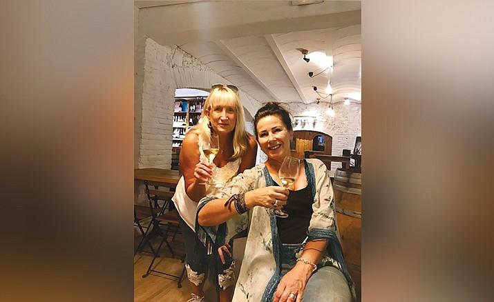 Debra Shinn and friends tasting Cava in Barcelona