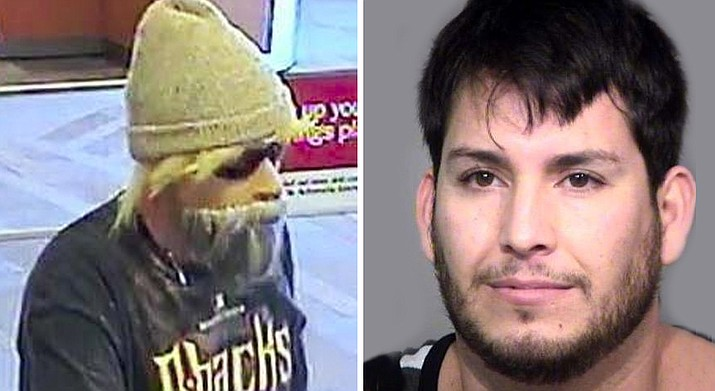 "Francisco Nieblas Rodriguez — known as the ""bearded bandit"" — was sentenced to 33 years in prison for convictions on a total of 25 counts of armed robbery, attempted armed robbery, kidnapping and aggravated assault. (Phoenix Police Department)"