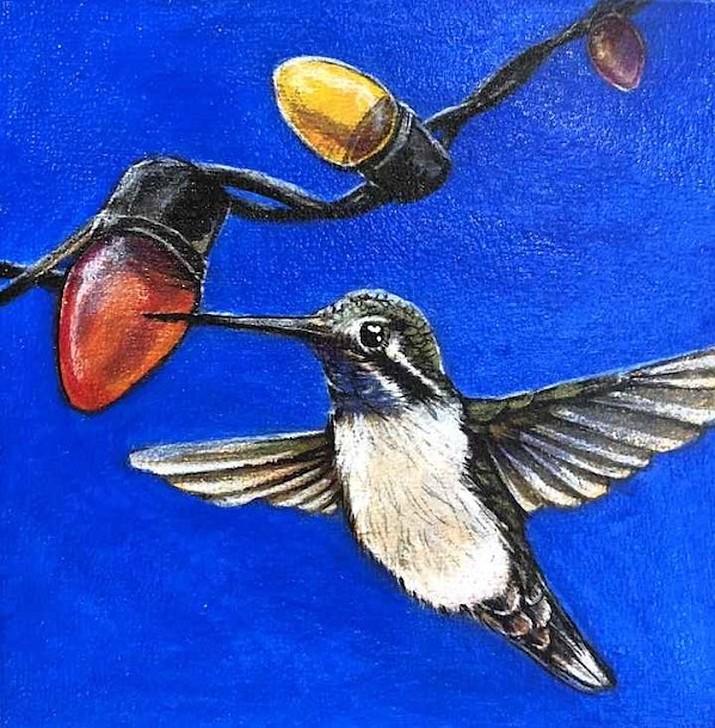 Blue Throated Humminbird by Jourdan Dern at Goldenstein Gallery