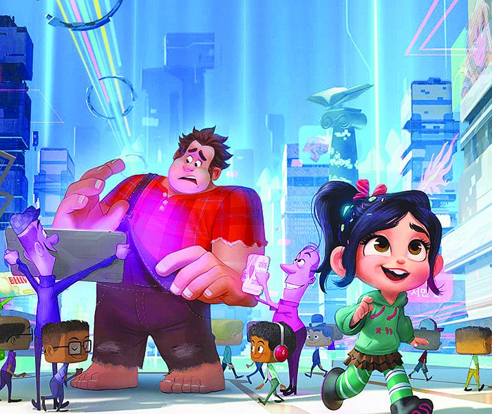 "John C. Reilly and Sarah Silverman in ""Ralph Breaks the Internet."" (Courtesy)"