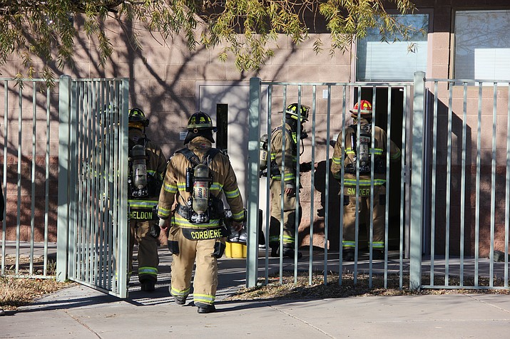 Local firefighters inspected three classrooms at Bradshaw Mountain High School for any hazardous materials Monday afternoon, Dec. 3. The three classrooms were evacuated earlier in the day when students reported feeling ill.