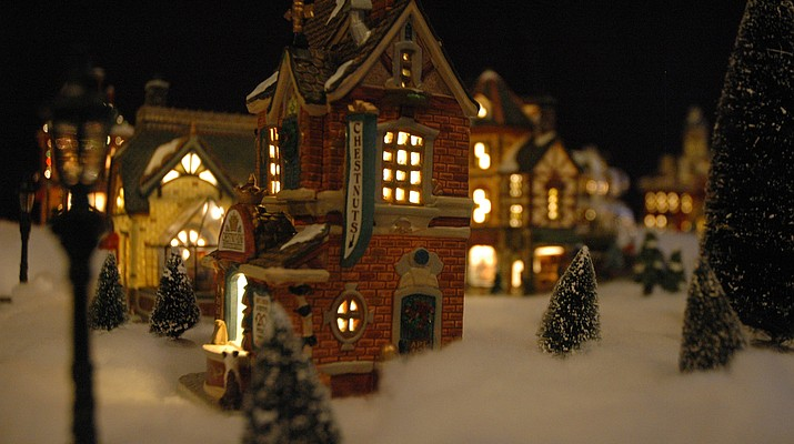 Visit a  Christmas village… in a garage