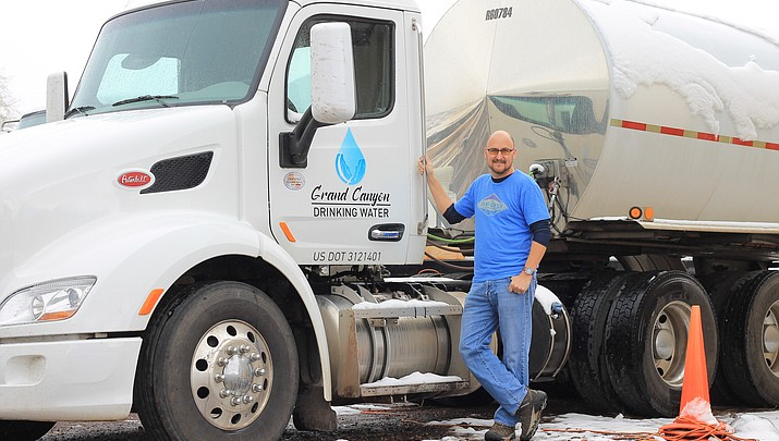 All in a day's work: Water hauler tackles fire