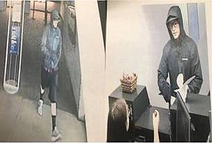 Video surveillance captures a robbery at Chase Bank in Flagstaff Nov. 28. (Photos/Flagstaff Police Department)