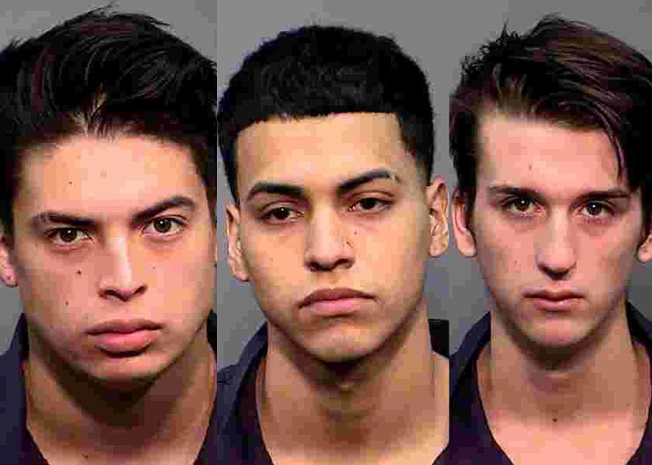 From left: Jonathan Hernanez, 18, Hipolito Zavala Molina, 18, and Kaiden Cox, 18, were arrested for their involvement in a vehicle burglary ring that encompassed multiple communities in northern Arizona. (Photo/Coconino County Sheriff's Office)