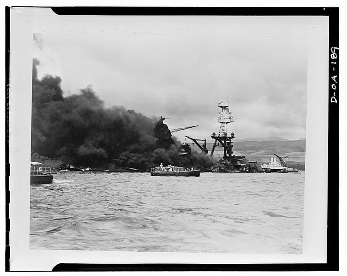 USS Arizona explosion. (Courtesy)