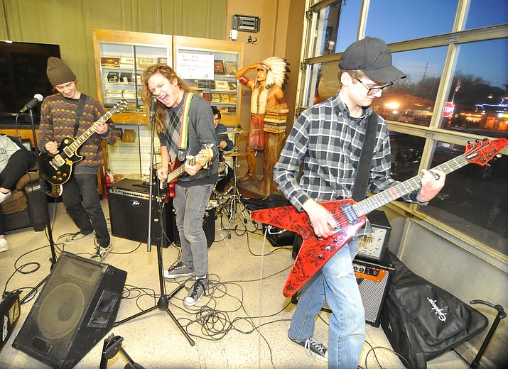 Seekers of Ill Fortune perform during last year's Acker Night. (Les Stukenberg/Courier file photo)