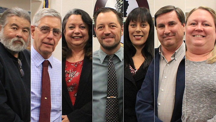 Cottonwood City Council: Ruben Jauregui. Doug Hulse, Vice Mayor Kyla Allen, Mayor Tim Elinski, Tosca Henry, Michael Mathews and Deb Althouse