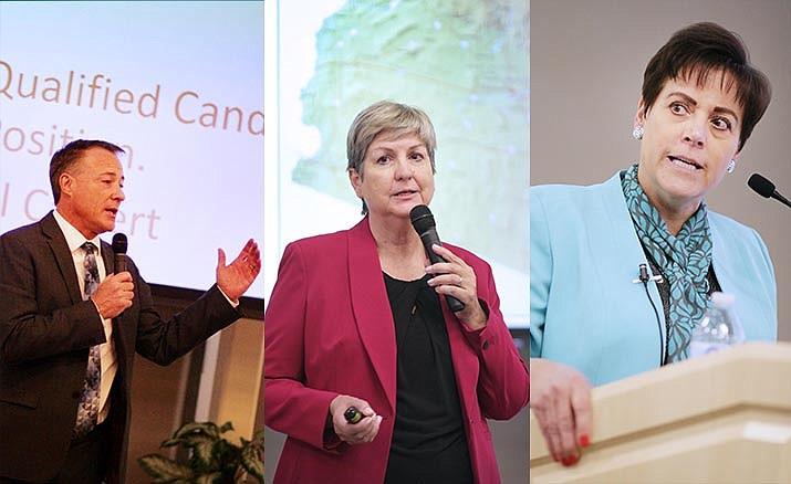 Michael Calvert, Lisa Rhine and Linda Elliott-Nelson