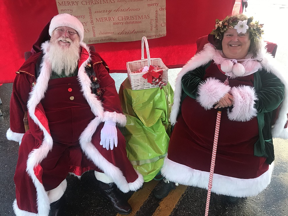 Santa and Mrs. Claus were on hand the 30th Annual Acker Musical Showcase Friday, Dec. 7, 2018 in downtown Prescott.  (Les Stukenberg/Courier).