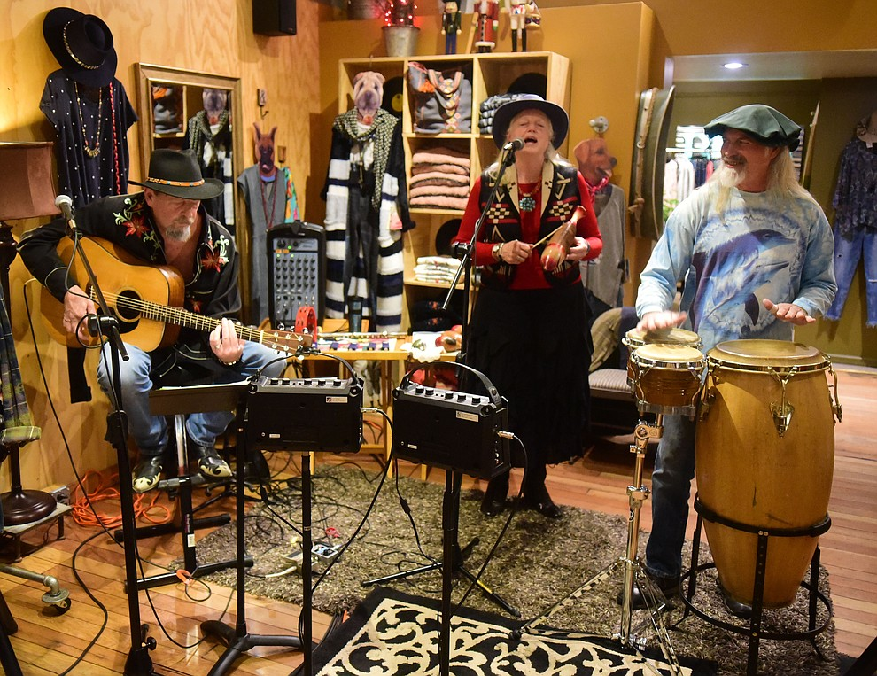 Lady T amd the Tramps perform at Clothes Hound during the 30th Annual Acker Musical Showcase Friday, Dec. 7, 2018 in downtown Prescott.  (Les Stukenberg/Courier).
