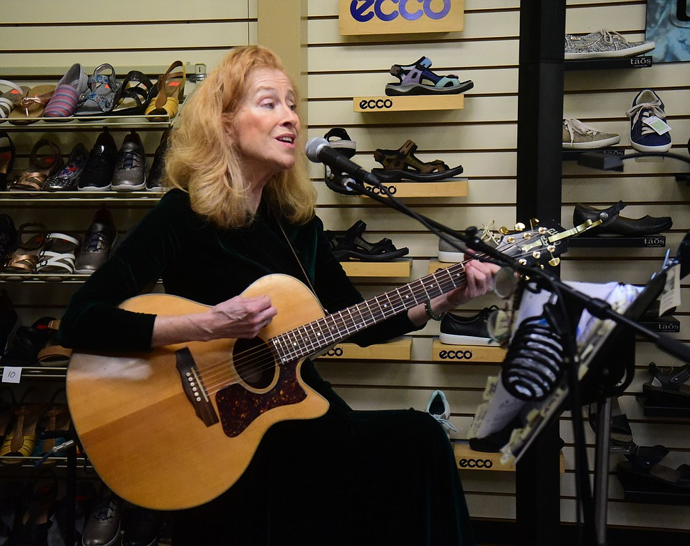 Deidre Rogers performs at Arizona Shoe Box during the 30th Annual Acker Musical Showcase Friday, Dec. 7, 2018 in downtown Prescott.  (Les Stukenberg/Courier).
