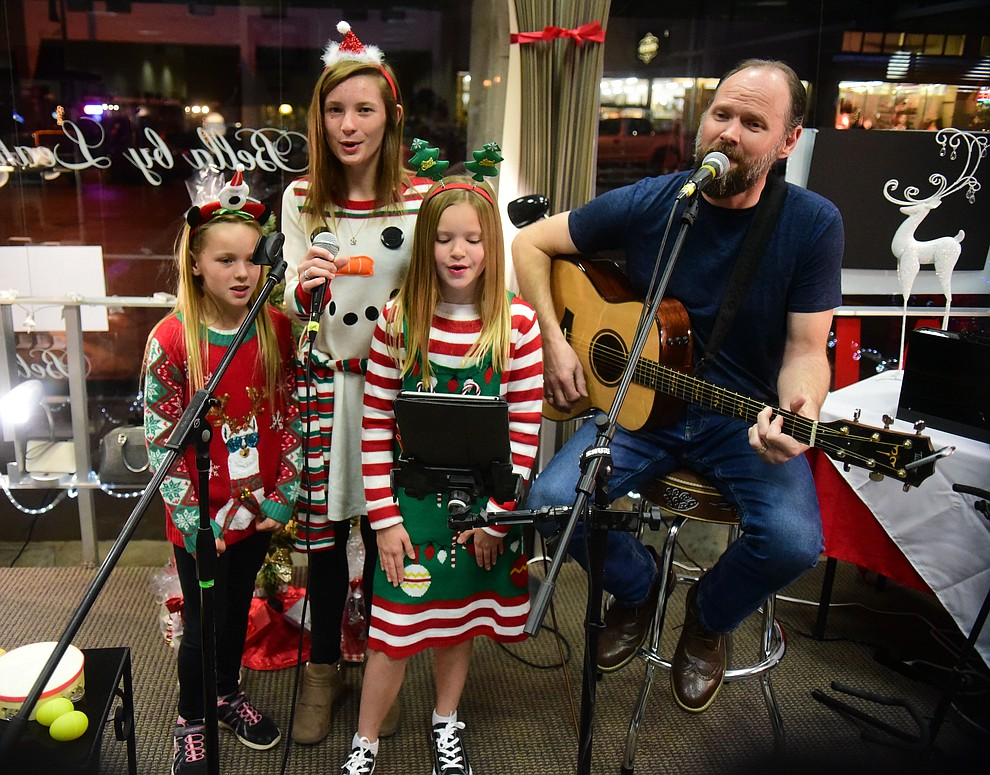 Music Mountain perform at Bella by Leah during the 30th Annual Acker Musical Showcase Friday, Dec. 7, 2018 in downtown Prescott.  (Les Stukenberg/Courier).