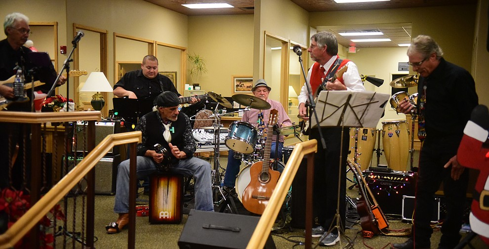 Road 1 South perform at Country Bank during the 30th Annual Acker Musical Showcase Friday, Dec. 7, 2018 in downtown Prescott.  (Les Stukenberg/Courier).