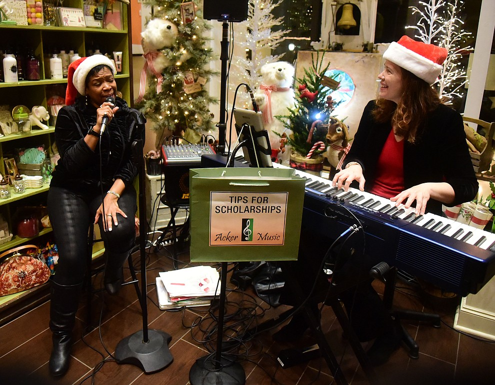 Nicole Pearce performs at Liberty Lane during the 30th Annual Acker Musical Showcase Friday, Dec. 7, 2018 in downtown Prescott.  (Les Stukenberg/Courier).