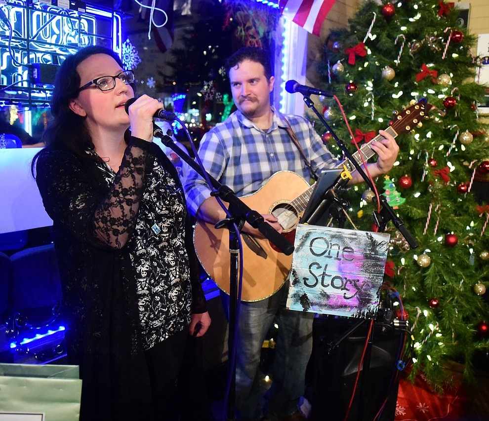 One Story performs at Marino's Mob Burger during the 30th Annual Acker Musical Showcase Friday, Dec. 7, 2018 in downtown Prescott.  (Les Stukenberg/Courier).