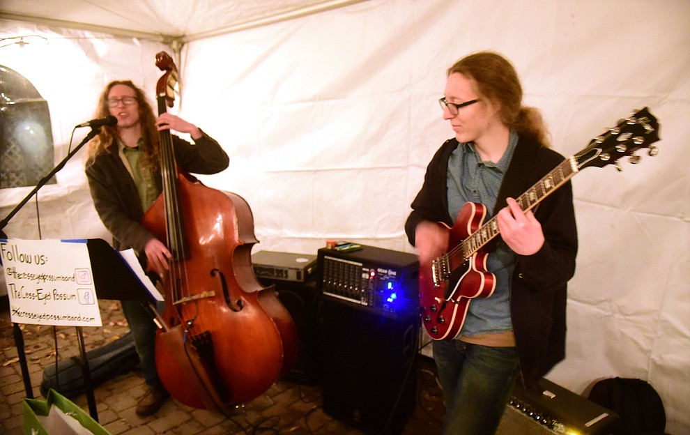 The Cross Eyed Possum perform at the Barley Hound during the 30th Annual Acker Musical Showcase Friday, Dec. 7, 2018 in downtown Prescott.  (Les Stukenberg/Courier).