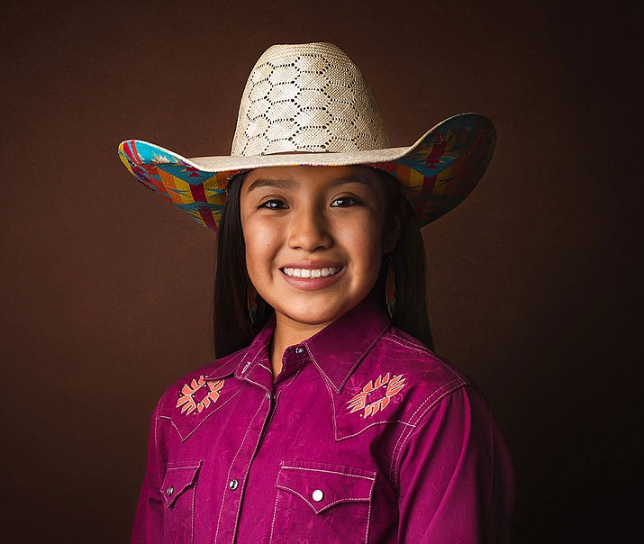 Peach Springs' Taliyah Bowman Crook will compete in barrel racing starting Tuesday in Las Vegas. (Courtesy)