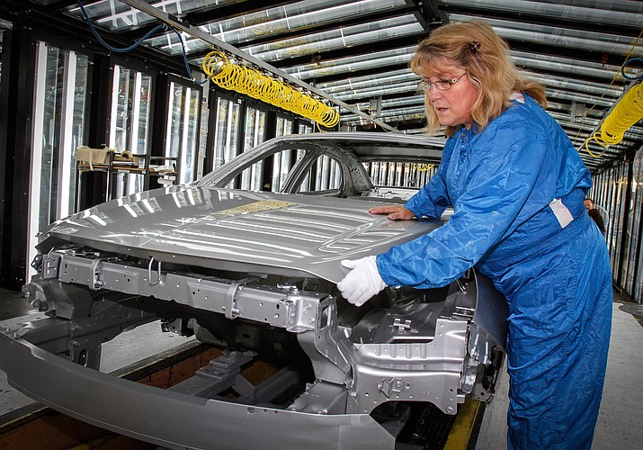 "General Motors' planned shutdown of its Detroit-Hamtramck plant would leave only one auto assembly factory in the city known for ""putting America on wheels,"" but the closure and job losses are not expected to stall-out Detroit's comeback since its 2014 bankruptcy exit. (General Motors photo [CC BY 3.0 (https://creativecommons.org/licenses/by/3.0)], via Wikimedia Commons)"