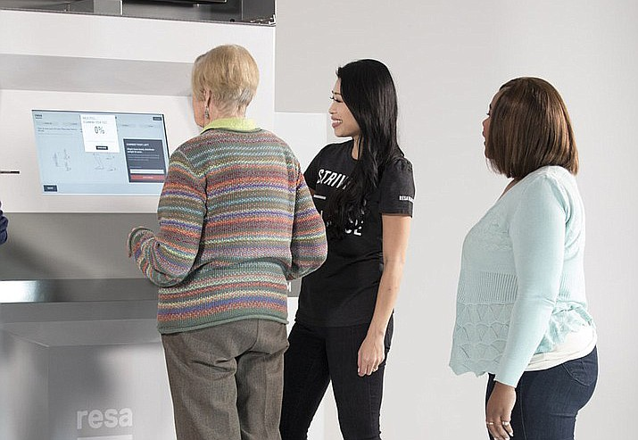 Resa custom shoe insert kiosks measure your feet on-site and create insoles for you while you shop. (RESA Wearables/Courtesy)