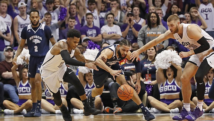 No. 6 Nevada rallies late to beat Grand Canyon 74-66
