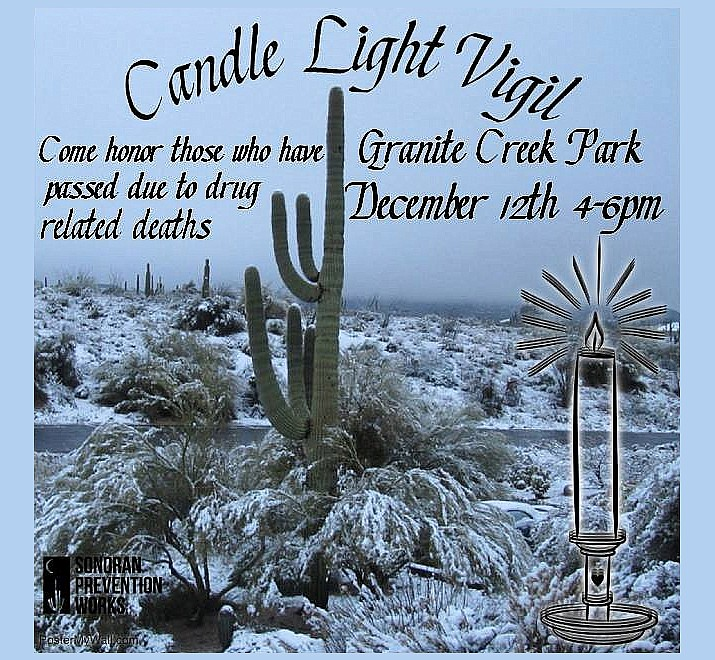 A flyer being circulated for a candlelight vigil taking place in Prescott. (Sonoran Prevention Works/Courtesy)