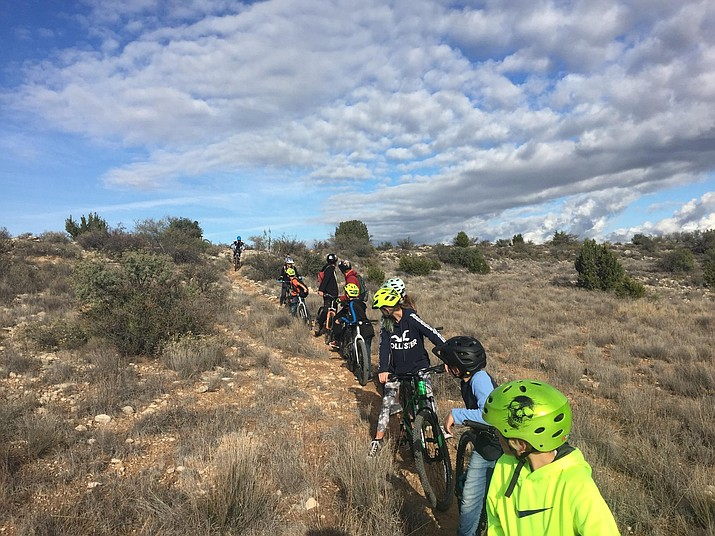 The Mountain Bike Club at Beaver Creek School District is on a roll on Fridays and recently the club had its first trip to the mesa. Photo courtesy Beaver Creek School District