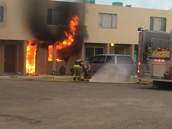 A bottom-floor unit of the two-story Kirk Apartments complex was involved in the fire. Firefighters were able to contain the fire within 10 minutes, according to CFMD.