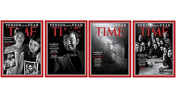 4 journalists and a newspaper are Time's Person of the Year photo