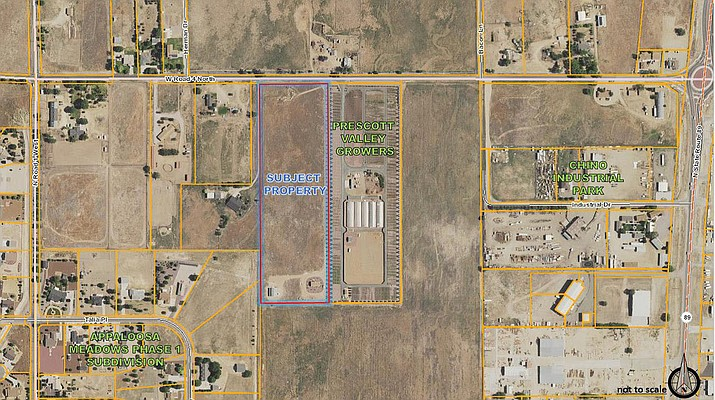 A request for rezoning property at 868 E. Road 4 N. from Single Family Residential to Commercial Light was denied advancement to the Chino Valley Town Council by the Planning & Zoning Commission.  (Town of Chino Valley/Courtesy)